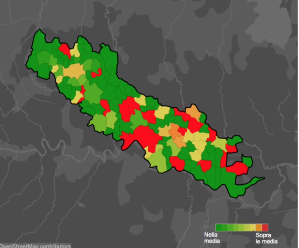 La cartina di Cremona fornita dalla stampa
