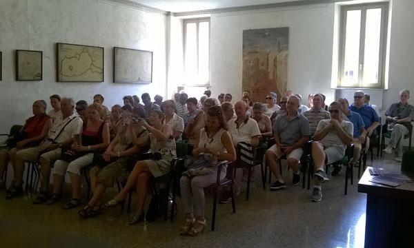 Nella foto la delegazione francese tra il pubblico