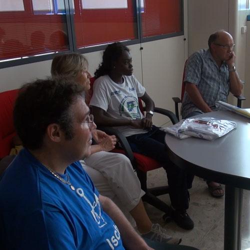 Nella foto Boateng con Zani (in primo piano), Voceri e Tenca