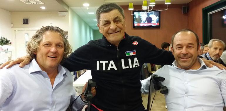 Nella foto Corrado Lodi, consigliere nazionale Fci, Roberto Vergine e Marco Villa