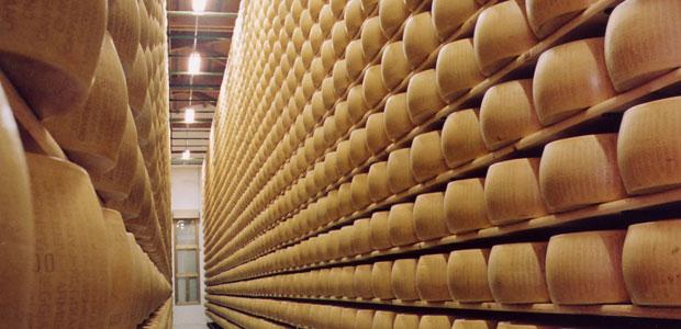 Parmigiano-Reggiano-forme-in-stagionatura-ev