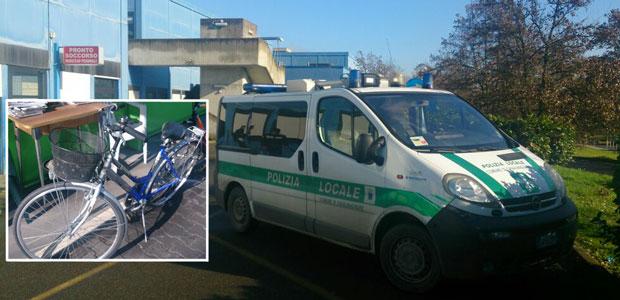 incidente-asolana-bici-polizia-locale-ospedale-ev