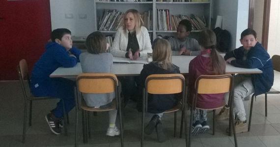 Un incontro con i ragazzi della scuola